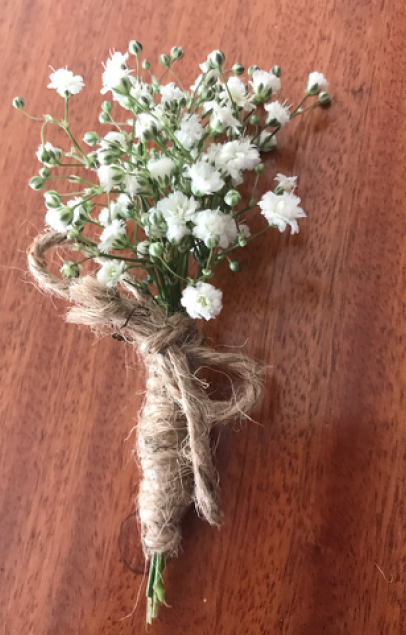 BG-009 | Corsage met gipskruid   Joke's bloemschikken
