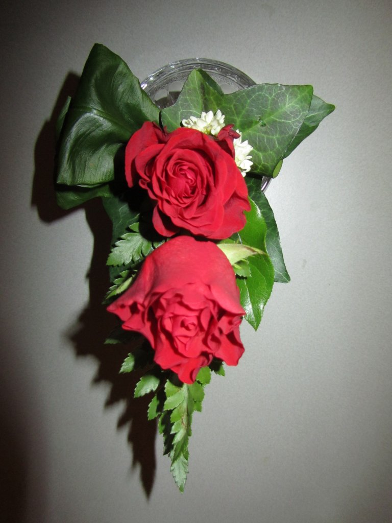 VO-007 | Damescorsage - op draad   Multiflora