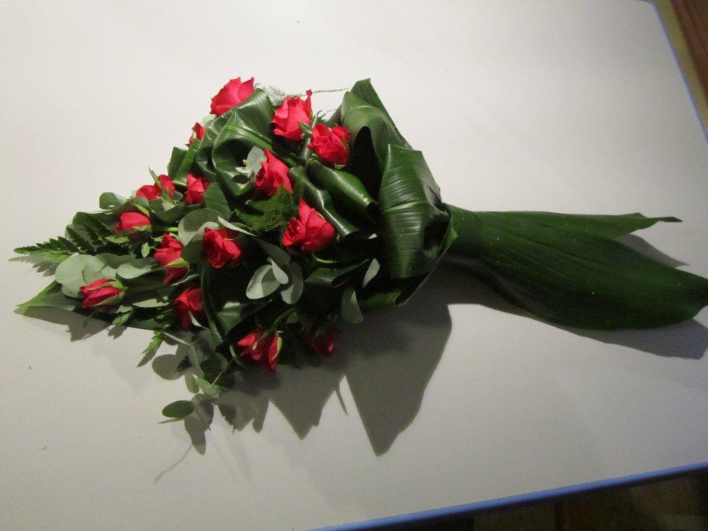 IB-016 | Handgebonden rouwboeket   Multiflora