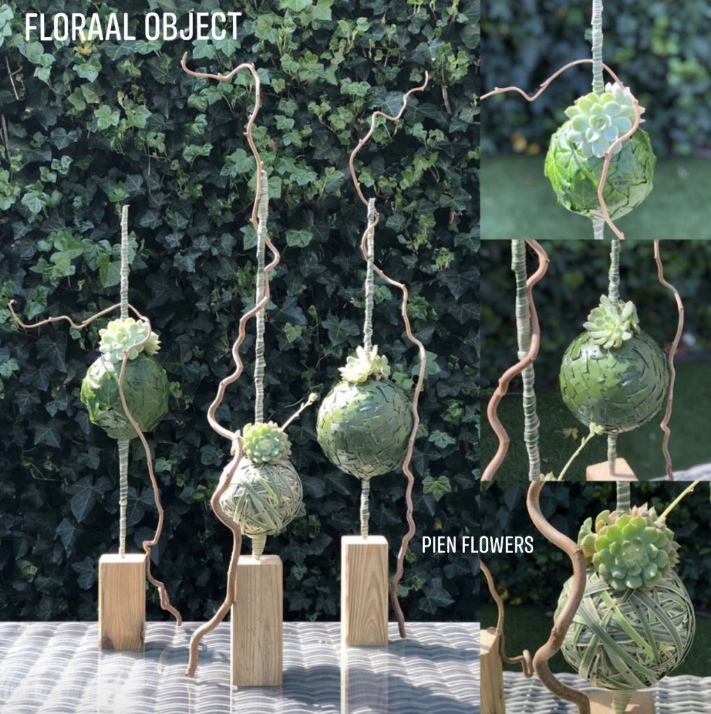 IB-092 | Floraal Object - met ballen   PienFlowers