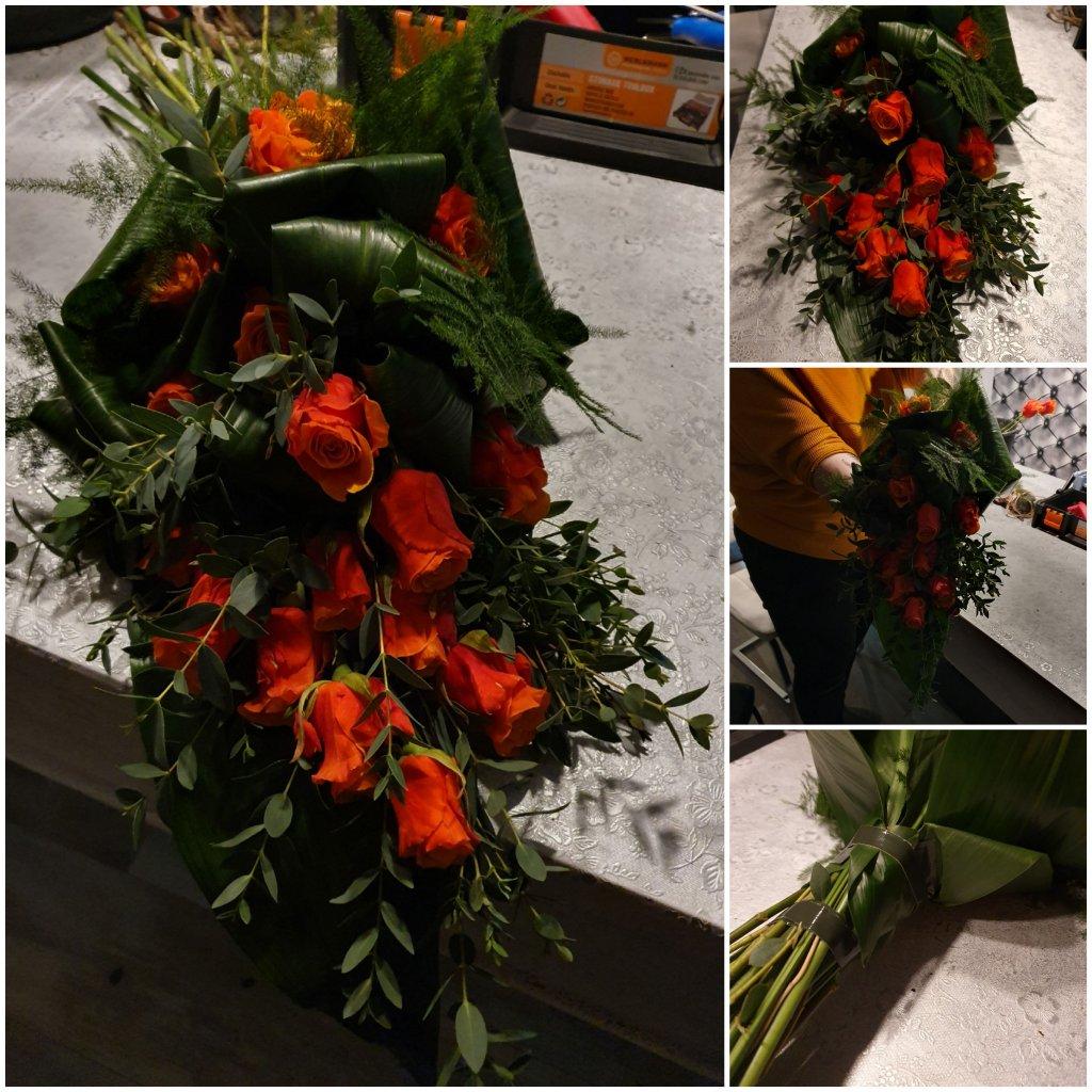 IB-016 | Handgebonden rouwboeket   Marion t W
