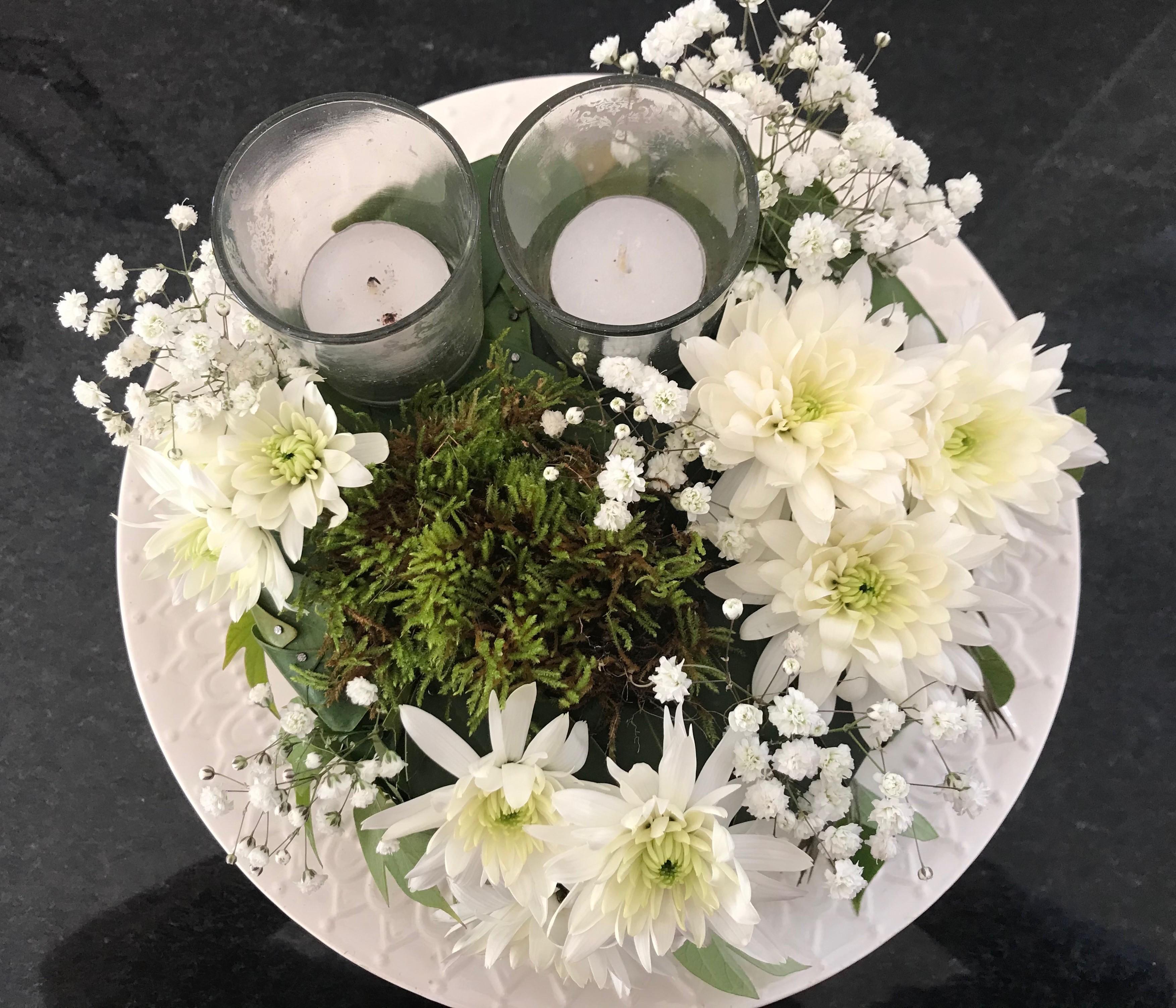 GR-001 | Bloementaart - in oasis   Joke's bloemschikken