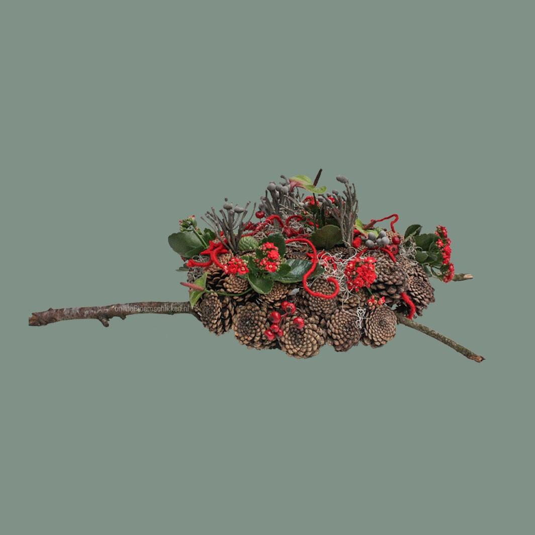 IB-088 | Floraal object met dennenappels