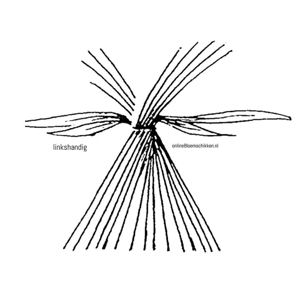 VO-001 | Handgebonden Biedermeier boeket - gemengd
